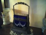 Blue Glass Antique Purse