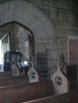 Pews inside Armour Chapel