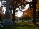 Elmwood Cemetery in the Fall